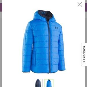 UA Boys 4-7 jacket never use